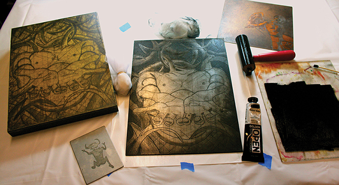 Inking Copper and Zinc Plates with OPEN