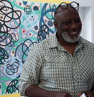 Artist, Professor Clarence Morgan