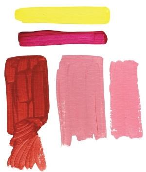 Mixing Quinacridone Red Light, Hansa Yellow Light plus Quinacridone Magenta