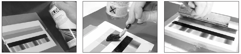 Three ways to seal a print include spraying with GOLDEN Archival Varnish, brushing with GOLDEN MSA Varnish or applying MSA Gel with a squeegee. These Mineral Spirit Acrylic-based products should not distort water sensitive prints.