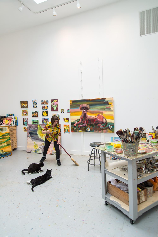 Judith Linhares in studio June 2015 ©2015 Amanda Marie Mason Photo Photography