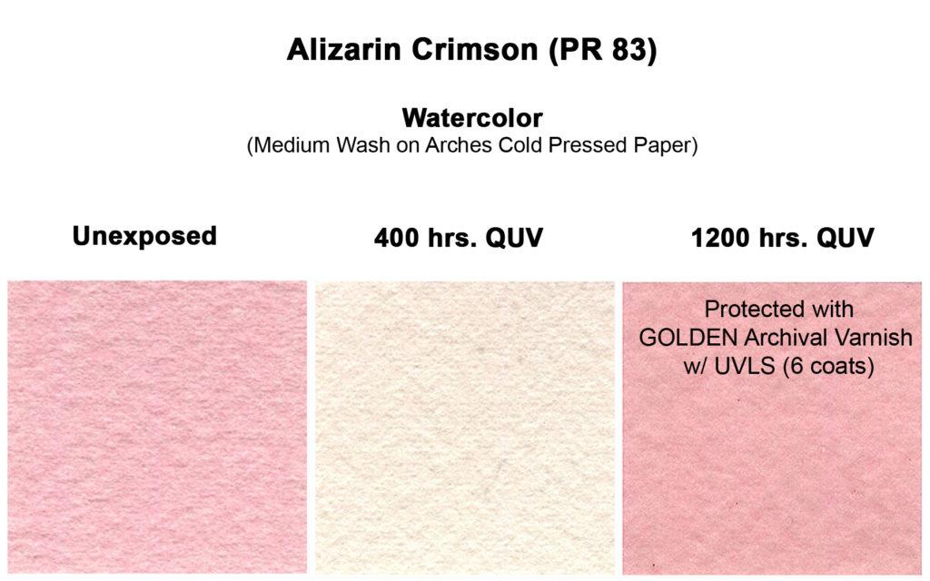 aliz-crimson-qor-wc-med-wash-unexposed-vs-400-quv-vs-1200-quv-varnished-copy