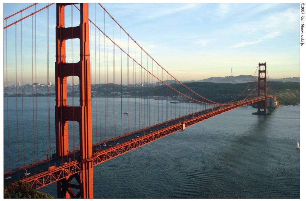 San Francisco Golden Gate Bridge at sunset. ©2007 Rich Niewiroski Jr.