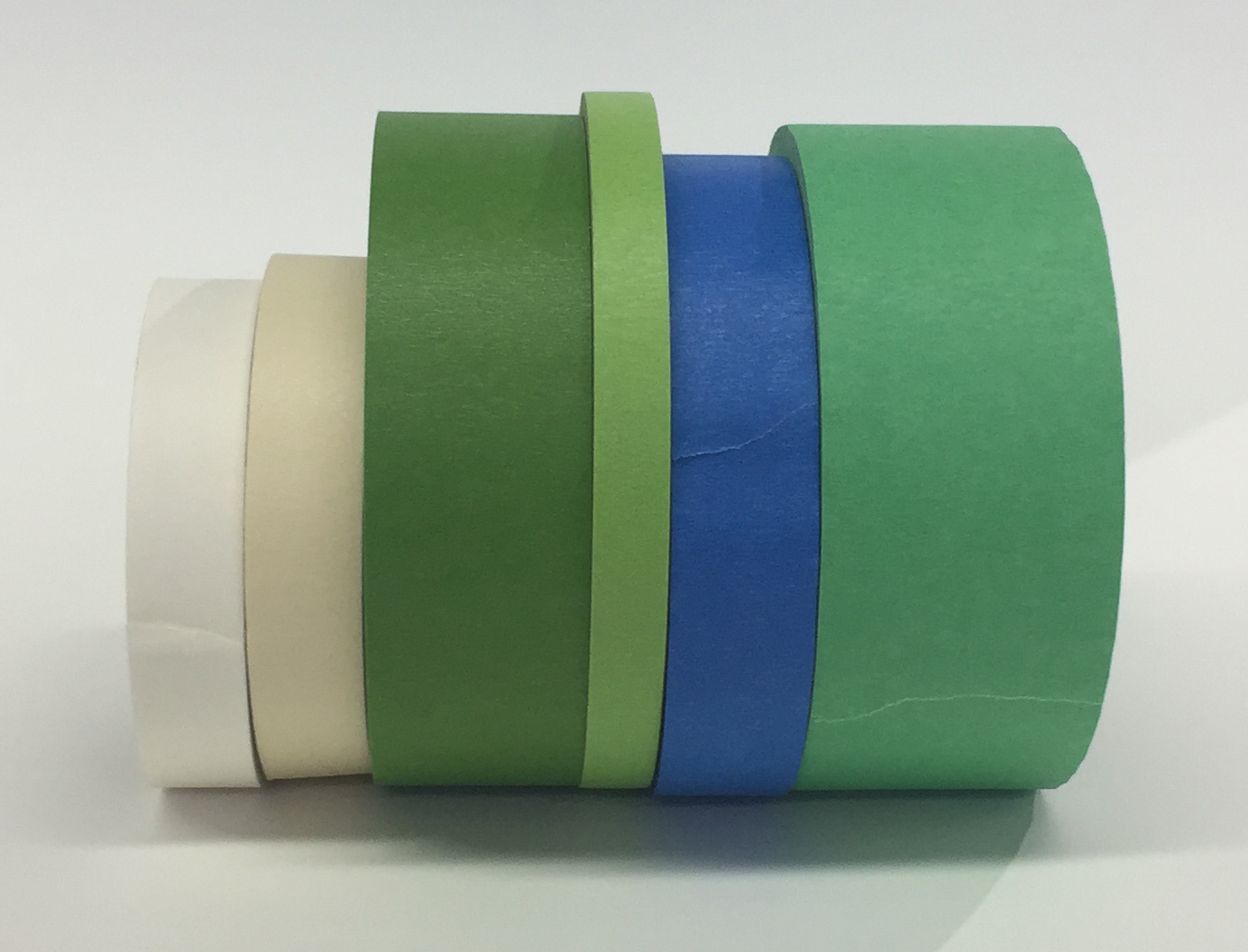 An assortment of masking and low-tack painter's tapes.