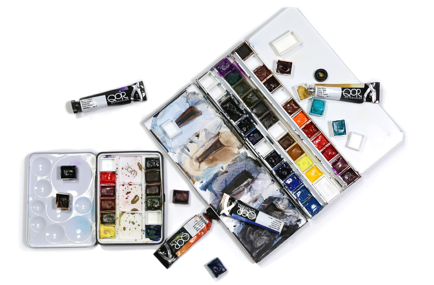 image of watercolor travel palettes